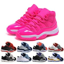 Wholesale Patent Quality - 2018 New arrivals Air Retro 11 UNC Gym Red space jam 45 Men Basketball Shoes high quality Retro 11s women Sneakers US5-8.5