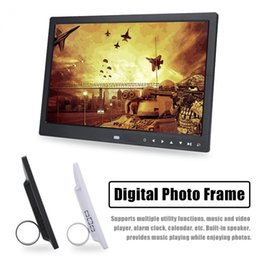 15 polegadas TFT LED HD Touch Screen Digital Photo Frame calendário despertador MP3 / MP4 Movie Player de