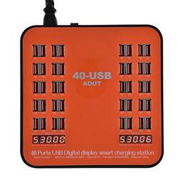 универсальная зарядная станция Скидка 40-портовая зарядная станция 180W 5V USB зарядное устройство со светодиодным дисплеем Универсальный для ipad iPhone 7 8 6s Plus Мобильные устройства