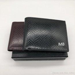 2019 многофункциональная визитная карточка Мужская высокого класса кожаный бумажник бизнес короткие MT многофункциональный MB роскошный подарок сумка держатель кредитной карты карманные Фото M B кошельки скидка многофункциональная визитная карточка