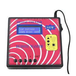 Wholesale 2018 Nuevo Contador digital remoto Programador de llave maestra Medidor de frecuencia Controlador remoto de RF de copiadora fija rodante