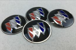 56.5mm 65mm Buick logo Centro de Roda Do Carro Tampas de Hub adesivo Emblema da liga de alumínio emblema cobre decalque styling PARA LaCrosse Regal Verano de