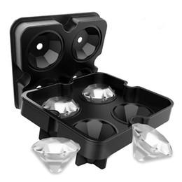 Diamant-eiswürfel-schale silikon online-3D Silikon Diamant Eiswürfelform Kühlen Whisky Wein Cocktail Eiswürfelschale Maker Küche DIY Kuchen Süßigkeiten Eisform Werkzeug