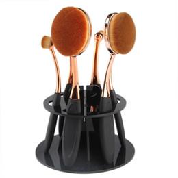 Canada 1 pcs pro 6 Trou Ovale Maquillage Pinceaux Support Séchage Rack Organisateur Cosmétique Plateau Outil make up titulaire beauté maquiagem Offre