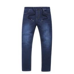 Wholesale Winter Jeans For Men - Men Spring Warm Casual Jeans Fleece Thick Warm Denim Jeans Male Slim Winter Long Plus Size 6XL 7XL For 130KG Men Wear