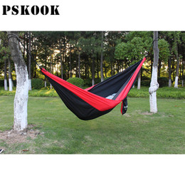 Wholesale Parachute Tents - PSKOOK 300*200cm Super Parachute Hammock Tent Double Portable Camping Hammock Ultralight Tree Hanging Bed for Yard Travel Beach