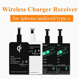 Wholesale Film Charger - Universal Qi Wireless Charging Receiver Film Patch Module Wireless Charger For Samsung Apple iphone 7 6 plus android type-c smart phones