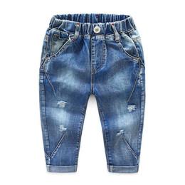 2019 enfants jeans filles ans Enfants Garçons Filles Jeans Pantalons Printemps Automne Styliste De Mode Pantalon Enfants Garçon Fille Denim Pants Jeans Casual pour 2 ~ 6 ans enfants jeans filles ans pas cher