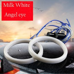 Wholesale Yellow Motorcycle Headlight - 2X Cotton Light Angel Eye LED DRL Car Motorcycle Fog Light Halo Rings Waterproof Auto Headlight Turning Signal Lampshades