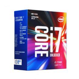 Intel Core i7 7700K İşlemci için orijinal 4.20GHz / 8MB Önbellek / Dört Çekirdekli / Soket LGA 1151 / Dört Çekirdekli / Masaüstü I7-7700K CPU nereden intel core i7 masaüstü tedarikçiler