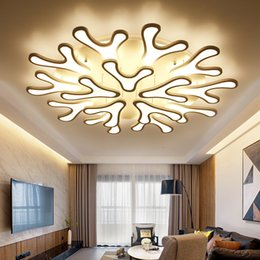 Wholesale Antler Room - New Antlers Acrylic Ceiling Lights 4 6 9 12 15 Heads Modern Led Ceiling Lamp For Living Room Bedroom lampara de techo luminaire