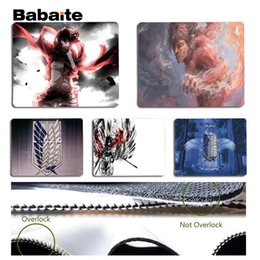 Wholesale size play mats - Babaite Hot Sales Attack on Titan mouse pad gamer play mats Size for 18x22cm 25x29cm Rubber Mousemats
