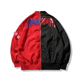 Wholesale Japanese Style Jackets - Women Men coat brand baseball Clothing outerwear Japanese style MA1 bomber jacket Harajuku pilot Harajuku street printing Jacket