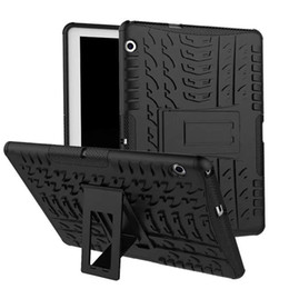 Caso di armatura dell'onore di huawei online-Custodia rigida per PC Heavy Duty Armour Tyre Style TPU per Huawei MediaPad T3 10 per Huawei Honor Play Pad 2 tablet PC