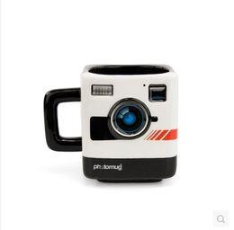 Wholesale ceramic camera - Free Shipping 1pcs cute Creative Trend Photo Mug Retro Camera Shape Mug Ceramic Coffee Gift Cup Free Shipping