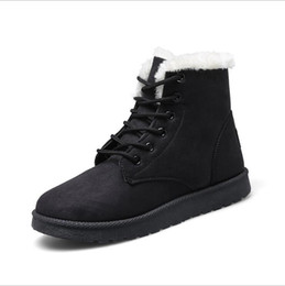 Wholesale Rubber Exports - Export Russia Woman Winter Ankle Snow Boots Classic Warm Plush Fur Suede Insole High Quality Lace Up Shoes Female Botas Plus Size 35-40