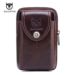 Wholesale Trends For Phone Cases - Bullcaptain 2017 New Retro Trend Men Waist Packs For Mobile Phone Money Case For Male Travel Belly Pack Bag Hot Sale