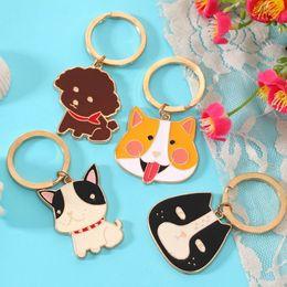 Chapado en oro de Metal Animales Llavero de Dibujos Animados Cat Dog Keyring Favores de La Boda Regalo de La Cadena Llavero + DHL envío gratis desde fabricantes