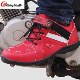 locomotive shoes Coupons - Summer Breathable cross-country Motorcycle riding boots Riding Tribe knight locomotive shoes racing short boots for women men