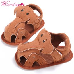 elephant shoes Promo Codes - Elephant Pattern Hollow Baby Boy Casual Prewalkers Soft Sole Summer Shoes 0-18 M New
