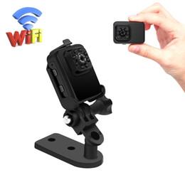 Wholesale Portable Networking - Mini WiFi Network Camera Wireless Small Camera 1080P HD Portable Sports Camera with IR Night Vision Digital Video Recorder Nanny Cam