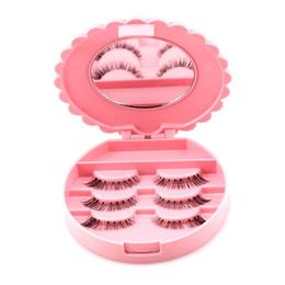 Faux cils en Ligne-NOUVEAU 1 PC Acrylique Mignon Arc Faux Cils Cils Oeil Boîte De Stockage Maquillage Cosmétique Miroir Cas Organisateur
