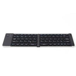 Color : White Jiabei Portable Folding Bluetooth Keyboard Mobile Phone Flat Silicone Keyboard