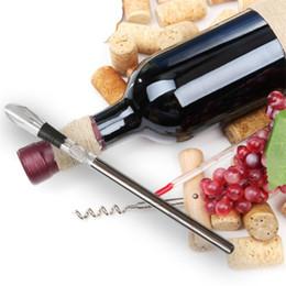 enfriadores de acero inoxidable Rebajas Enfriadores de vino Botella Pourer Cooling Ice Cool Freezer Stick Rod y acero inoxidable Wine Chill Coolers Herramientas para Bar Hot Sale 15hj Z