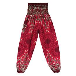 Argentina Tipo flojo 2018 Nueva Tailandia Mandala de cintura alta Bohemia Knickerbocker Pantalones de yoga flojos de verano femenino supplier new types pants Suministro