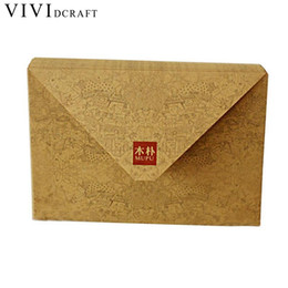 world stationery Promo Codes - Vividcraft Korean Stationery Vintage Letter Paper 10 pcs Pack Retro Perfect World Envelope for Invitations Creative Letter Set