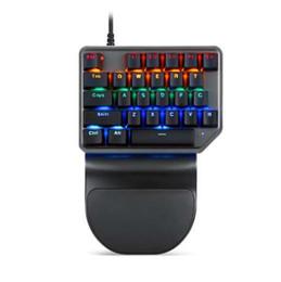 Tasti tasti illuminati online-Tastiera da gioco con tastiera meccanica Motospeed K27 Retroilluminazione a luce mista Design ergonomico PC USB cablato con 27 tasti per PUBG