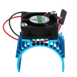 Wholesale electric motor for fan - 2018 Motor Heatsink And Fan Cooling AluminumDurable Brushless 550 540 3650 Size Sink Cover Electric Engine For RC HSP Model Car