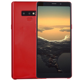Cheap Goophone Full Screen da 6,3 pollici Note9 Note 9 3G WCDMA Quad Core MTK6580 da 1 GB 8GB Android 7.0 Face ID GPS Mostra Octa Core 4G LTE Smartphone supplier bluetooth note da nota del bluetooth fornitori