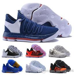 Дешевые KD 10 баскетбольная обувь мужская Белый Кевин Дюрант 10s х чистая платина BHM Oreo тройной Lmtd городской серии особенности мужчины кроссовки от