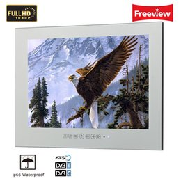 Wholesale Monitor Full Hd Led - 27 inch Full HD ip66 Waterproof Bathroom Magic Mirror LED in Wall Monitor TV for Hotel Shower room