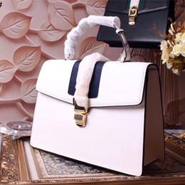 ca7e77f49303d Frau Totes echtes Leder Mode Handtasche schwarz weiße Farbe Designer Taschen  Größe 31