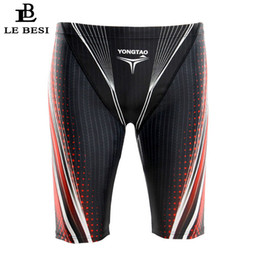 más el tamaño de los pantalones de baño de los hombres Rebajas 2017 Lebesi Hombres Troncos de natación profesionales Quinto pantalón Trajes de baño para hombres Traje de baño de cintura alta Tallas grandes Ropa deportiva Ropa de playa
