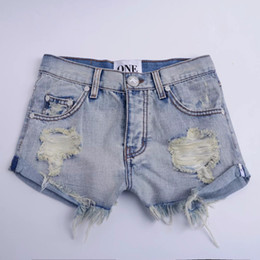 Jean denim courtes fille sexy en Ligne-Tassel Vintage Ripped Trou Fringe Denim Shorts Thong Femmes Sexy Pocket Jeans Shorts One Teaspoon Summer Girl Hot Denim Booty court