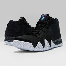 Wholesale Golf Iv - Kyrie 4 EP Black White Men Basketball Shoes New Irving 4s IV Black White Noir Blanc Oreo Sports Suede Sneakers US 7-12 943807 002
