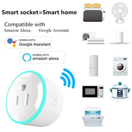 Wholesale Remote Control Power Outlets - Mini Smart WiFi Socket Power Outlet Breathing Light Charger US Plug Compatible with Alexa Google Home Timing Function APP Remote Control