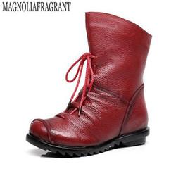 2019 sapatos frontais 2017 Estilo Vintage Botas de Couro Genuíno Das Mulheres Botas Planas de Couro Macio das Mulheres Sapatos Zip Ankle Boots frente zapatos mujer k101
