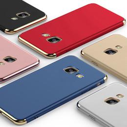 Capa de telefone 3in1 on-line-Casos protetores do telefone plástico duro do chapeamento 3in1 luxuoso para a galáxia a3 a5 a7 de Samsung (2016) A3 A5 A7 (2017) A8 mais (2018)