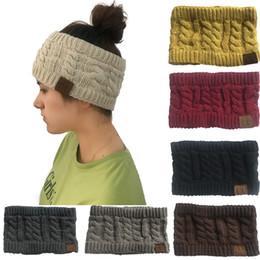 Canada CC Tricoté Câble Bandeau Femmes Hiver Headwrap Bandeau Crochet Turban Tête Band Wrap Coloré Ear Warmer Bandeaux Cheveux Accessoires Chaud Offre