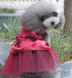 fantasias para cães Desconto Inteligente 2018 Novo Verão Pet Moda Filhote de Cachorro Vestir Roupas Traje Roupas para Chihuahua Atacado Vestidos para Pequenos Cães Femininos
