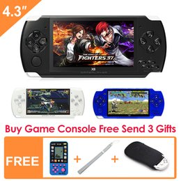 Wholesale Free Video Arcade - Free Shipping 4.3 inch Handheld Game Console 8Gb Mp4 Mp5 Function Video Game Built In 1200+real no-repeat for gba gbc sfc fc smd