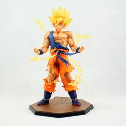 Wholesale Dragons Figurines - 18cm Figurine Dragon Ball Z Super Saiyan Son Goku PVC Action Figures Toys Anime Dragon Ball Figure Collectible Model Toy