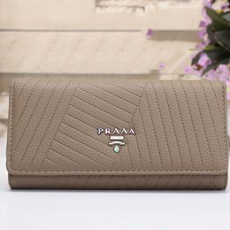 Wholesale Christmas Cover Photos - PRAAA women long clutch bags europe luxury brand leather aaa long designer wallet phone holder and purse credit card cover handbags