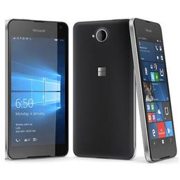 Телефоны microsoft lumia онлайн-Восстановленный оригинальный Nokia Microsoft Lumia 650 Quad Core 5.0 inch 1GB RAM 16GB ROM 8MP Camera 4G LTE Smart Cell Phone Free Post 1 шт.