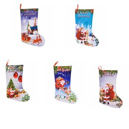 Jouets feutrés en Ligne-5styles De Noël Bas Cadeau Sacs Feutre Tissu De Noël Arbre Sock Bonbons Sac De Stockage Festive Party Fournitures de Noël jouet GGA771 150 pcs