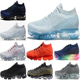 Wholesale Women Casual Shoes Woven - New VaporMax Running Shoes Weaving racer Ourdoor Athletic Sporting Walking Sneakers for Women Men Fashion pink Casual maxes Size 36-45